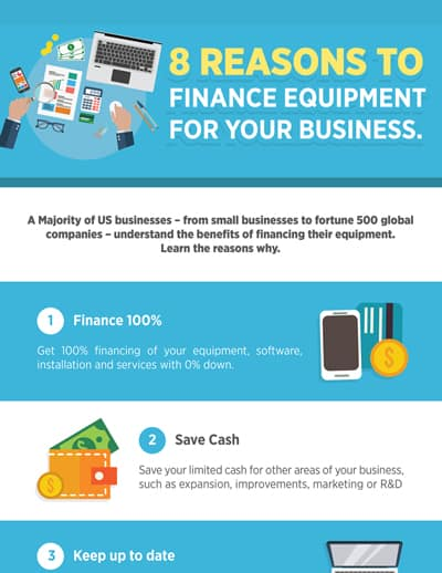8 reasons to finance equipment for your business